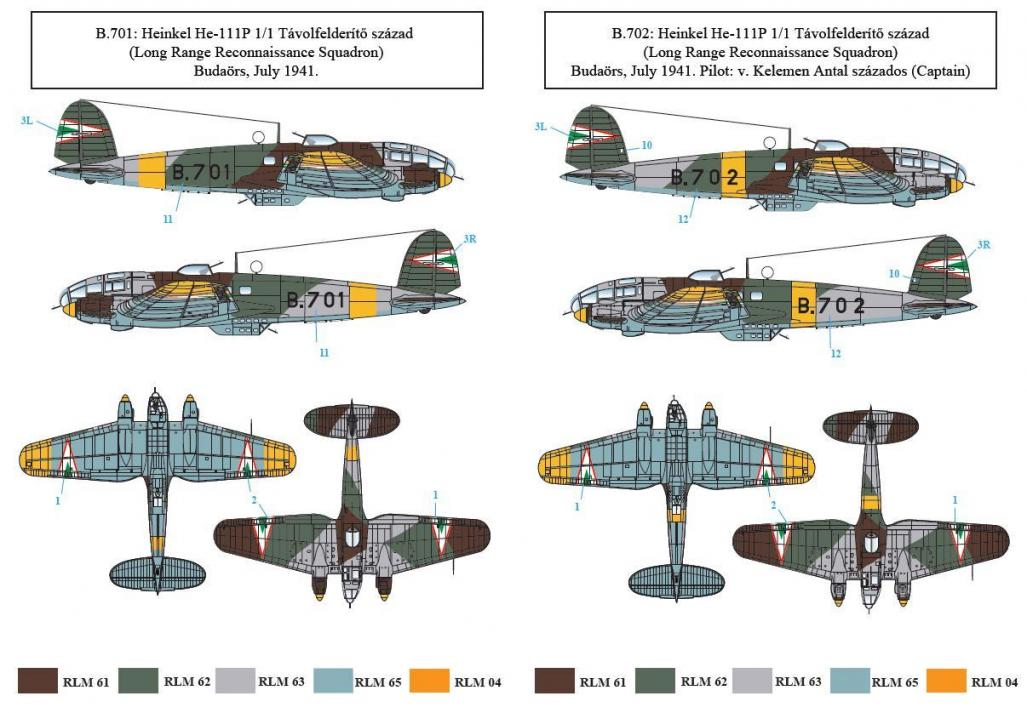 Heinkel He 111 P In Hungarian Service 1 48 Scale Sbs