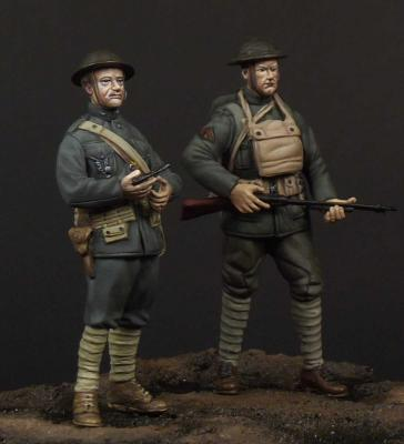USMC officer & soldier (WW1)