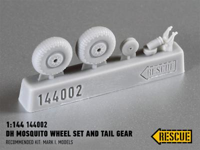 DH Mosquito wheel set and tail gear for Mark I. Models kit