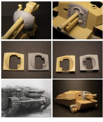 40/43M Zrínyi assault gun mantlet for Bronco kit