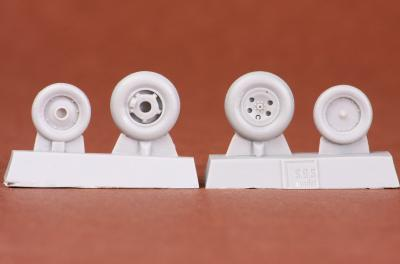 Folland Gnat T.1 wheel set for Airfix kit