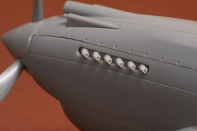 Curtiss P-40B exhaust set for Airfix kit
