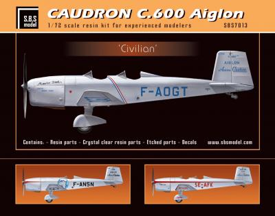 Caudron C.600 Aiglon 'Civilian' full kit