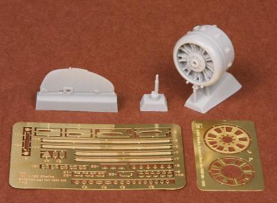 Polikarpov I-153 Chaika cowling & exterior set for ICM kit
