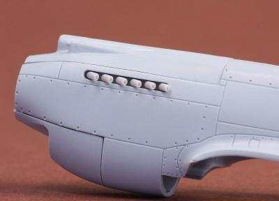 Curtiss P-40B exhaust for Airfix kit