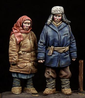 Boy & Girl WW II period