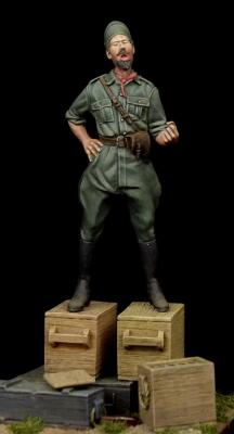 Singing Italian officer WW II