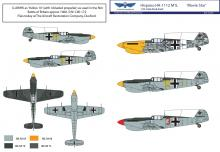 Hispano HA-1112 M1L 'Movie Star' decal sheet + resin parts