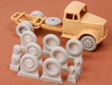 Kfz.385 wheel set (late 8-bolt type) for Italeri/Tamiya Opel Blitz kit