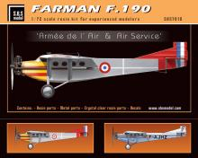 Farman F.190 'Armée de l'Air & Air service' full resin kit