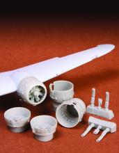 Bristol Blenheim engine cowling + exhaust set for Airfix kit