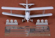 De Havilland DH-82 Tiger Moth rigging & wheel set for Airfix