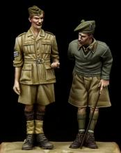 British NCO & Scottish Highlander Western Desert WW II