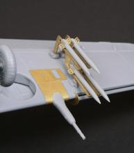 Wing Cannon & Rocket set for HA-1112 Tripala/Buchon Spanish  - 3.