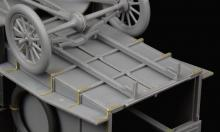 Ford Model T Ambulance update set for ICM kit - 6.