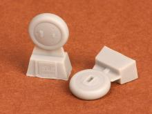 Gloster Gladiator wheels (covered) for Airfix kit - 1.