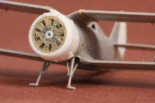 Polikarpov I-153 Chaika cowling & exterior set for ICM kit - 1.