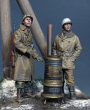 US Military Police & GI 'Ardennes 1944' WW II with stove - 1.