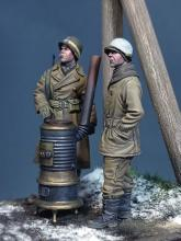US Military Police & GI 'Ardennes 1944' WW II with stove - 3.